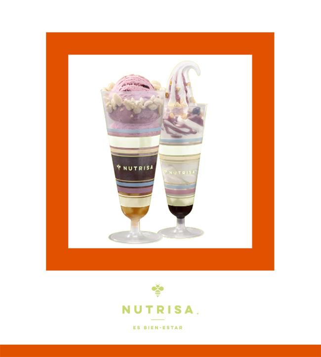 2 copas de helado suave o helado de bola por $100 - NUTRISA