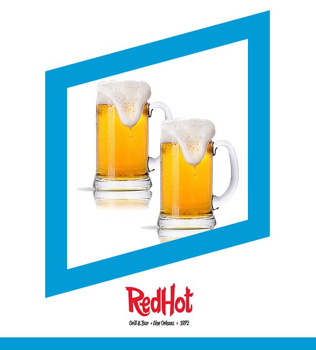 Viernes Cerveza de Barril al 50% - RED HOT GRILL